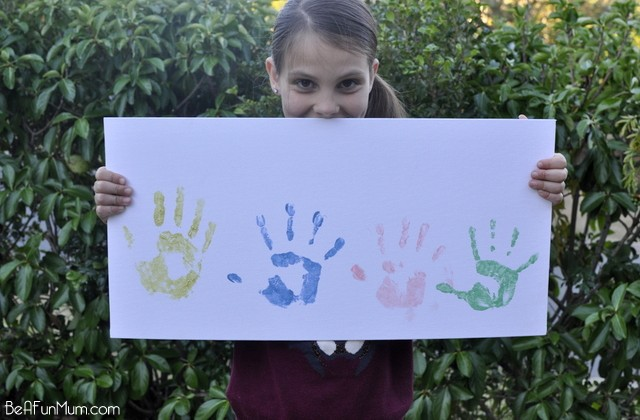 Father's Day Craft: Hand Print Canvas