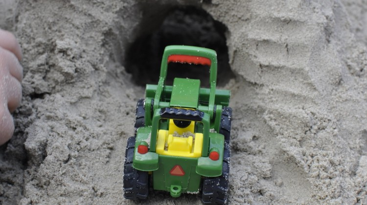 Imaginative Play: Construction Sand Box