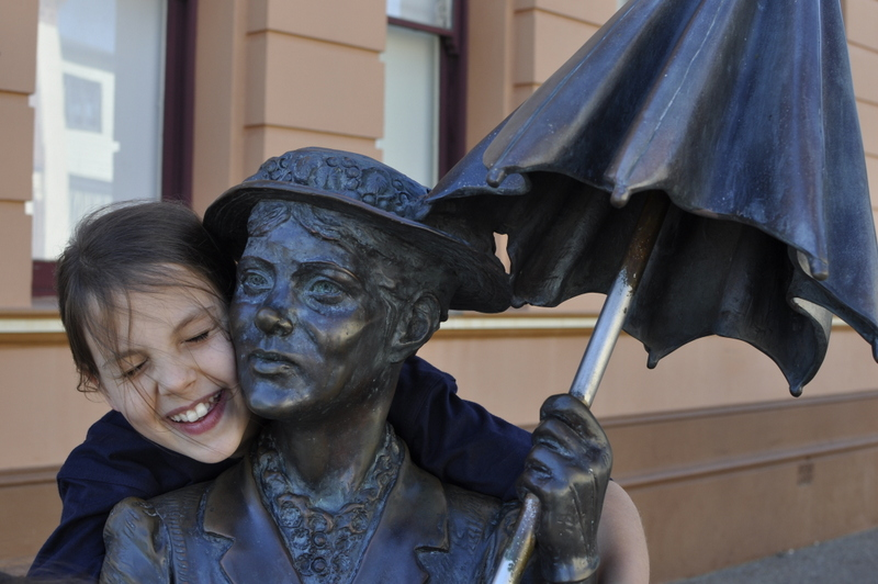 Mary Poppins Statue in Maryborough - Fraser Coast - Queensland - Home of Mary Poppins!