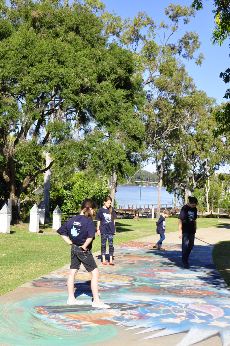 Chalk Drawing - Maryborough - Fraser Coast - Queensland - Home of Mary Poppins!
