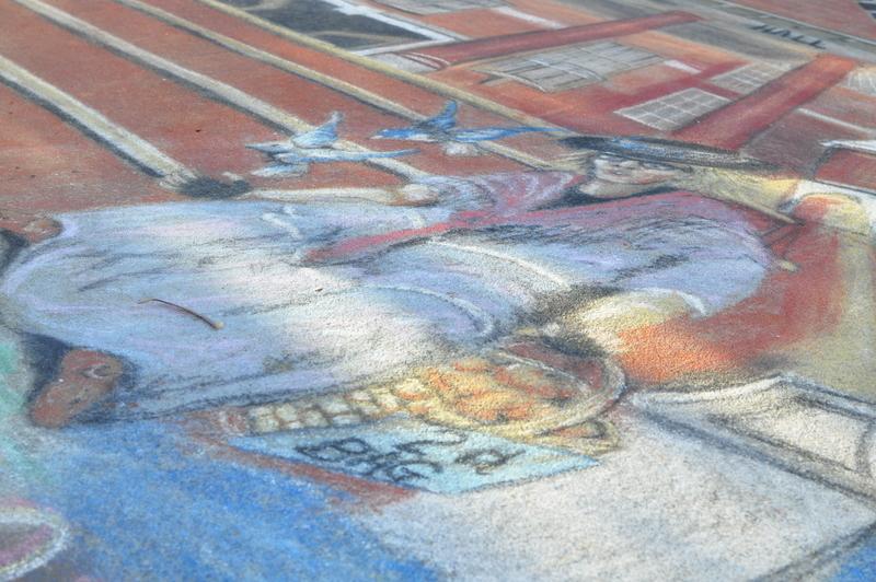 Chalk drawing - Maryborough - Fraser Coast - Queensland