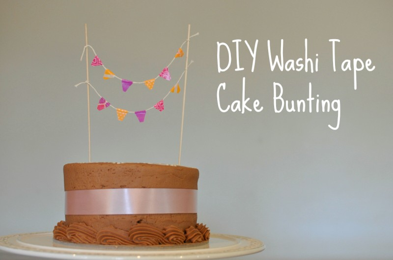 DIY Washi Tape Cake Bunting