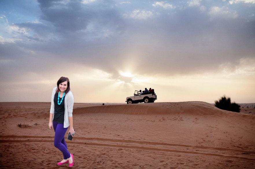 Visiting Dubai - desert safari