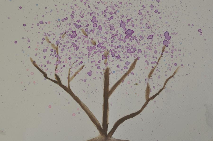 Jacaranda Tree - Watercolour Tutorial for kids