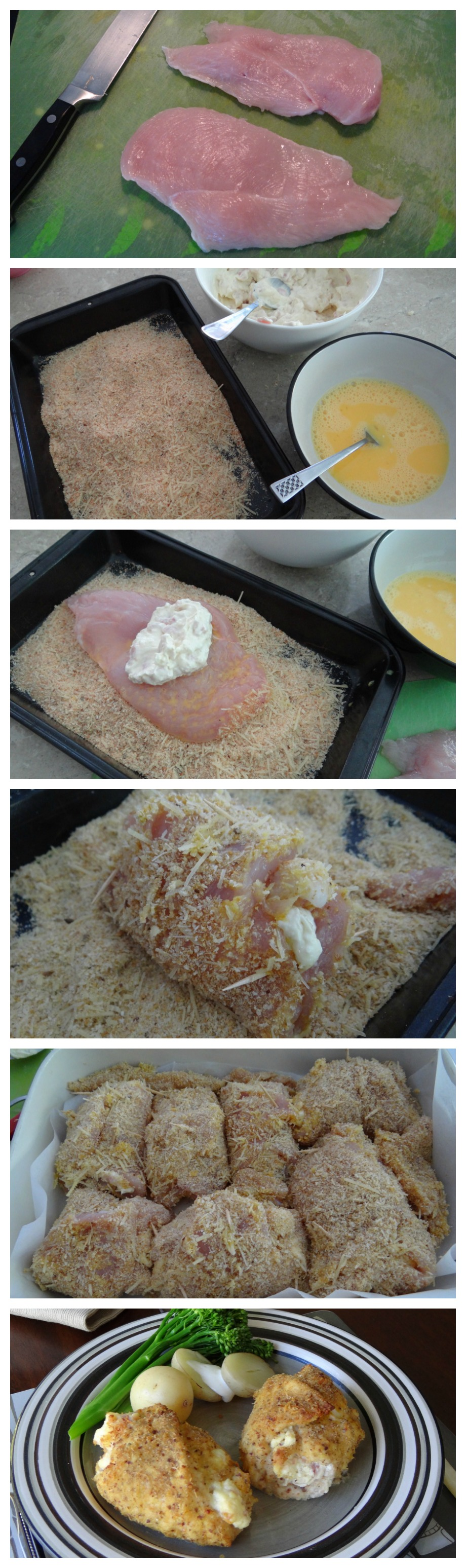 Stuffed Crumbed Chicken Recipe