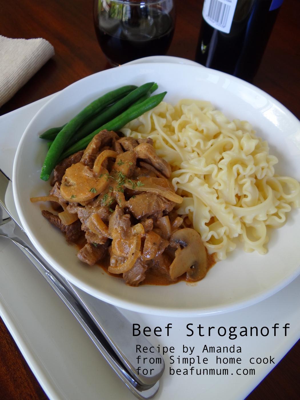 Beef Stroganoff Recipe - EASY
