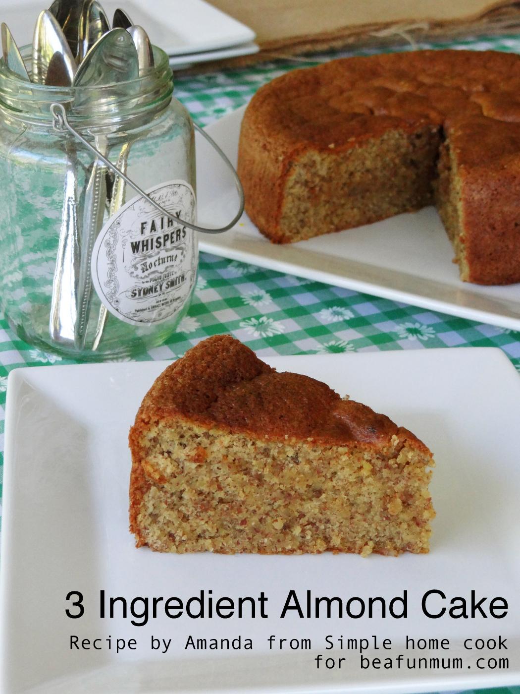 3 Ingredient Almond Cake