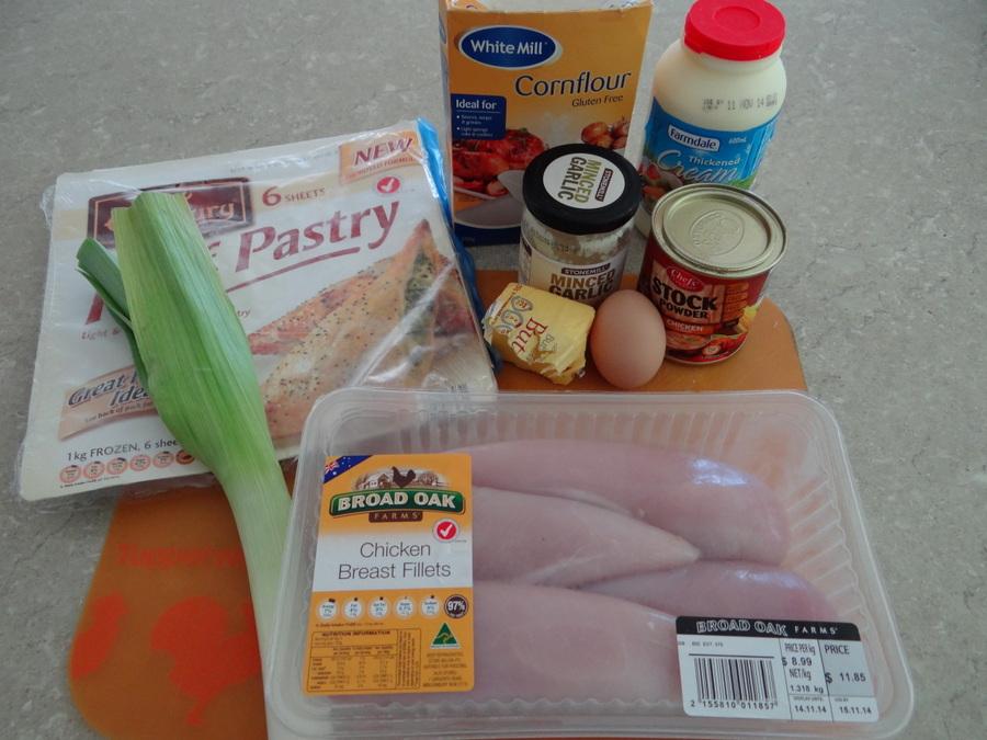 chicken & leek parcels recipe