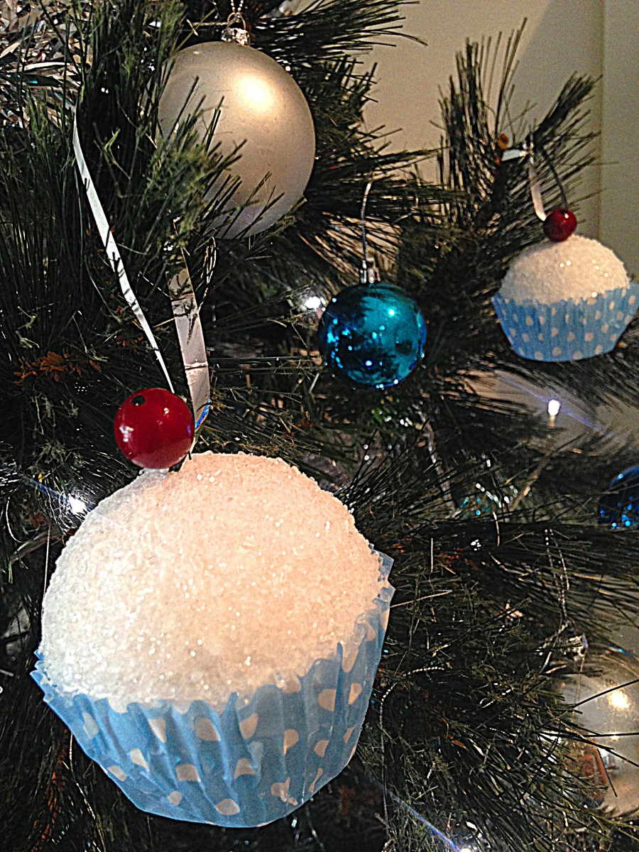 Cupcake Christmas Decoration