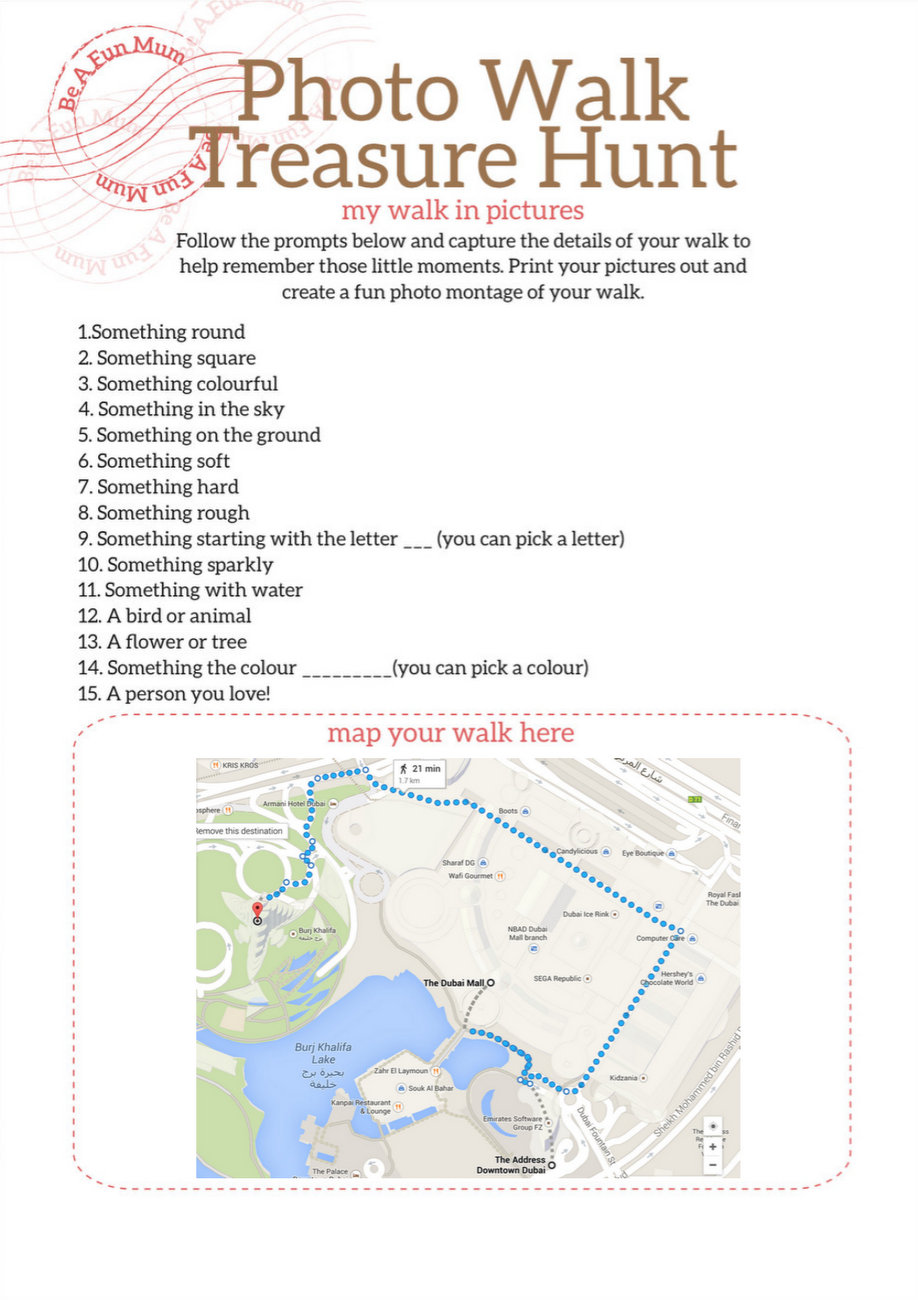 Photo Walk Prompts Printable