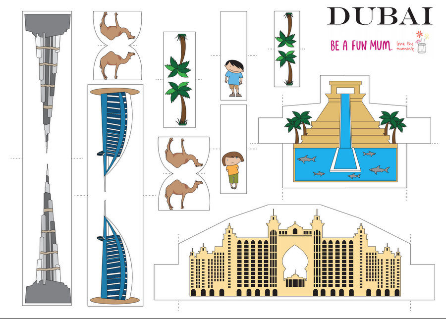 Dubai City Travel Play Set for Kids