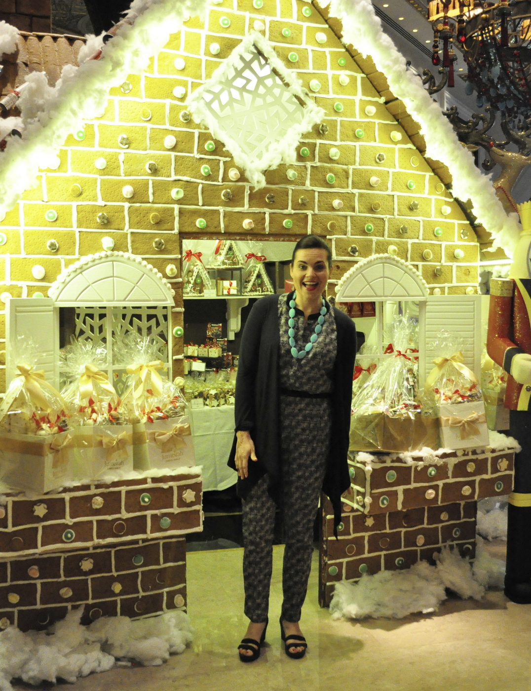 Life Sized Gingerbread House - in The Lotus Lounge at the Jumeirah Zabeel Saray Hotel (on The Palm) - amazing!