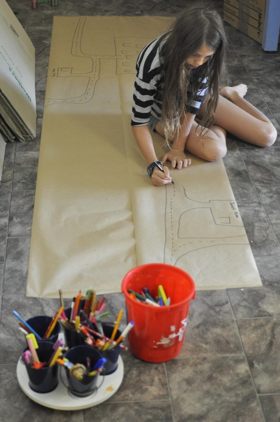 Paper play mat