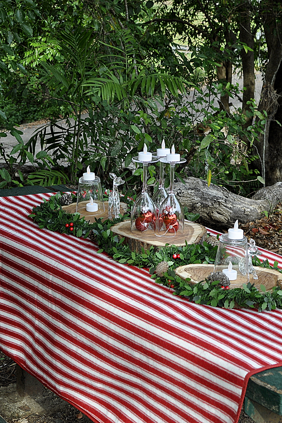 Outdoor Christmas Table Setting