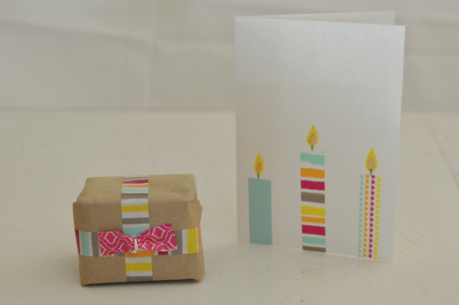 Washi Tape Candle Card