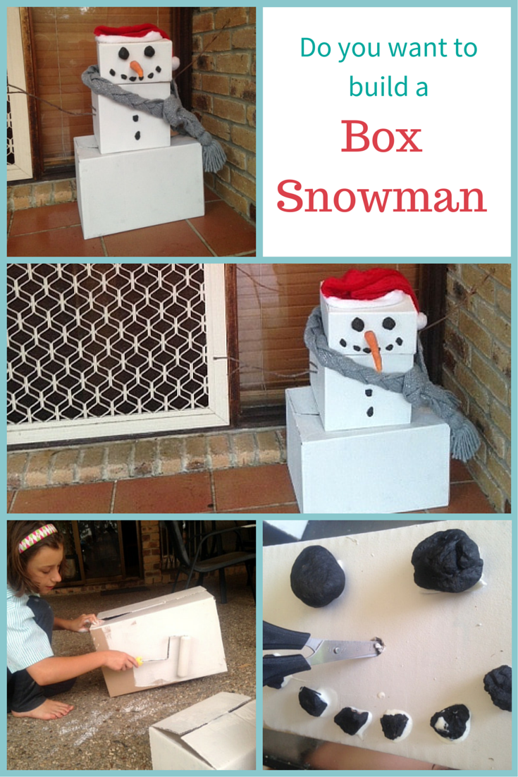 Do you want to build a box snowman