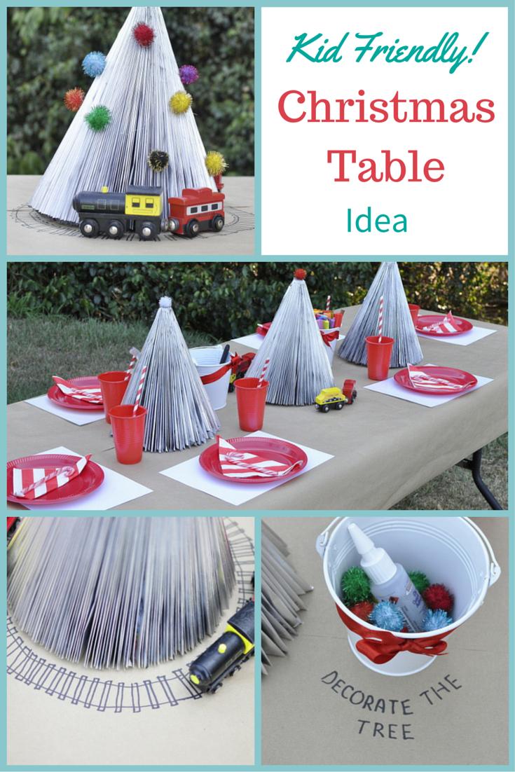Kid Friendly Christmas Table