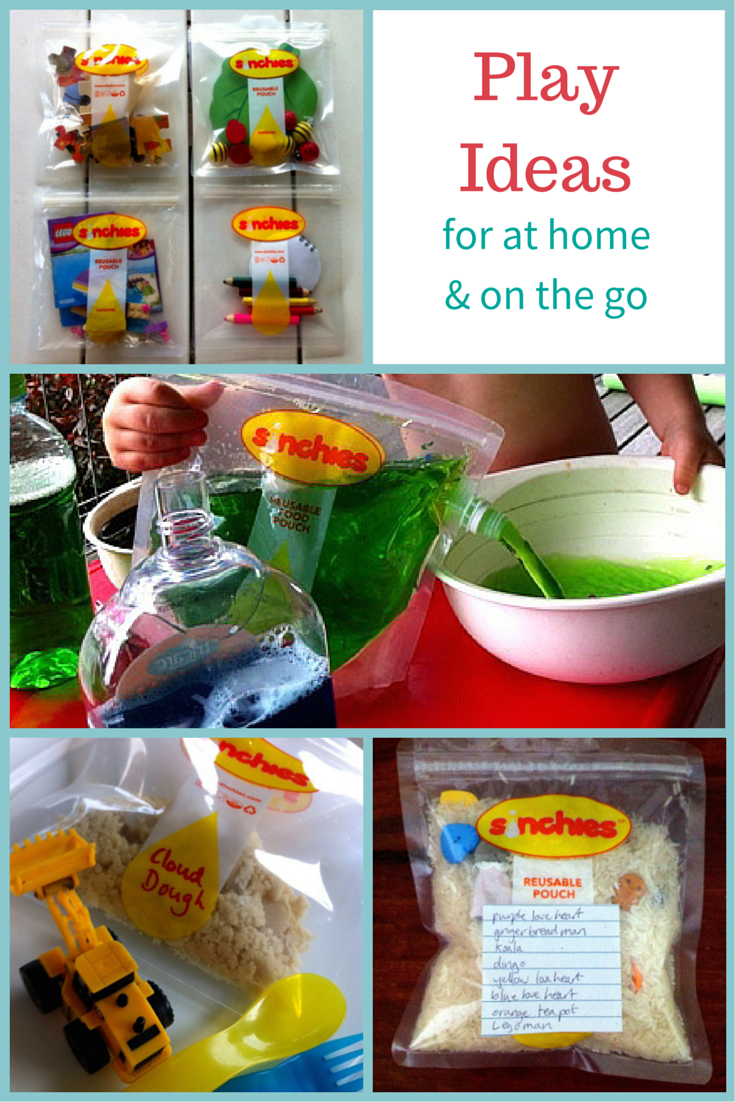 Play ideas for on the go with reusable pouches