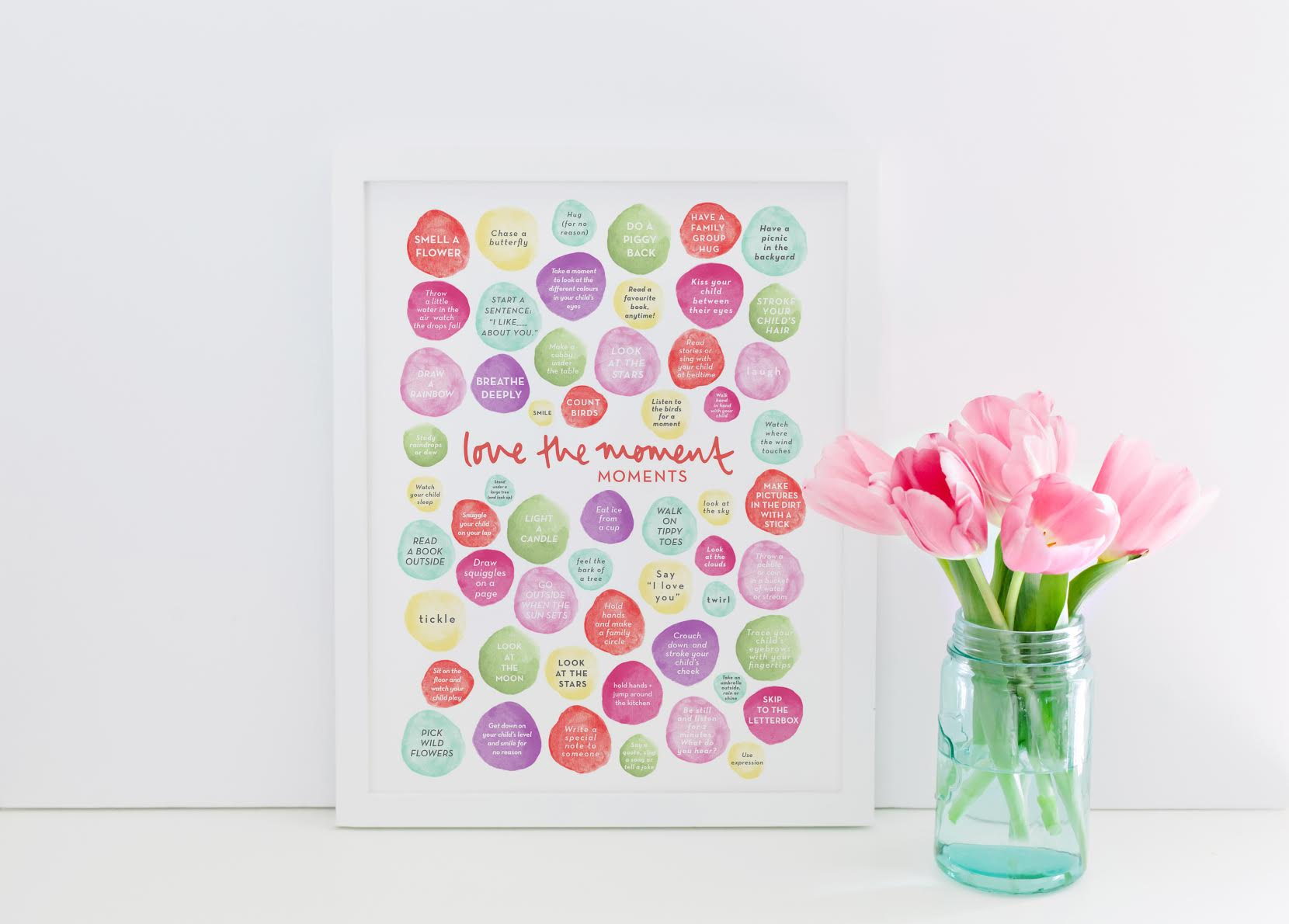 Love the moment moments - Printable Poster