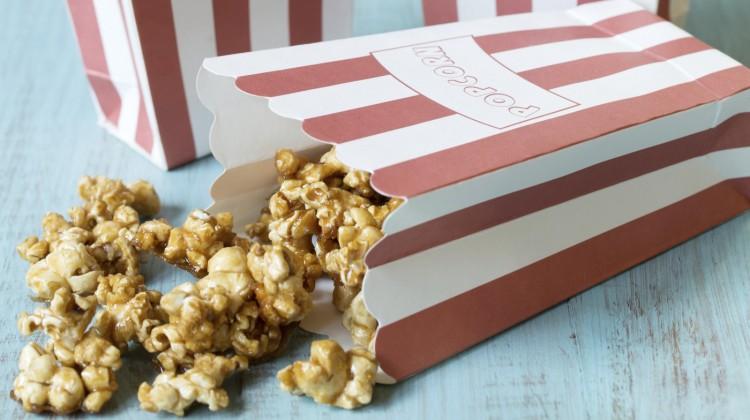 Caramel Popcorn (Refined Sugar Free, Gluten-Free, Vegan, contains Nuts!)