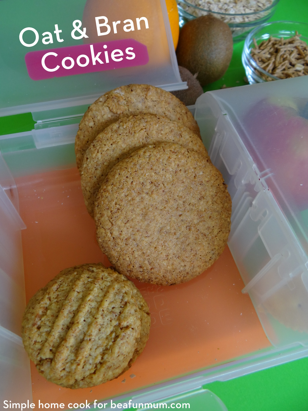 Great for the lunch box - Oat & Bran Cookies