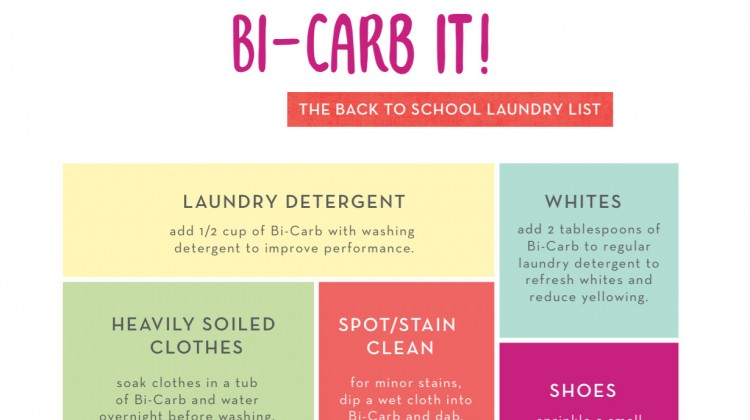 Bi-Carb It! The Back to School Laundry List