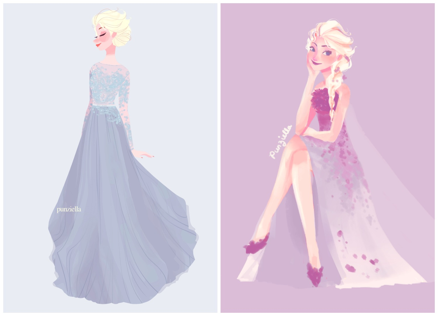Elsa - Frozen Illustration - Punziella