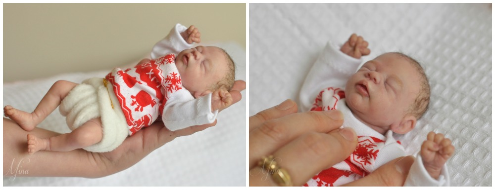 Miniture baby sculpture by Mina