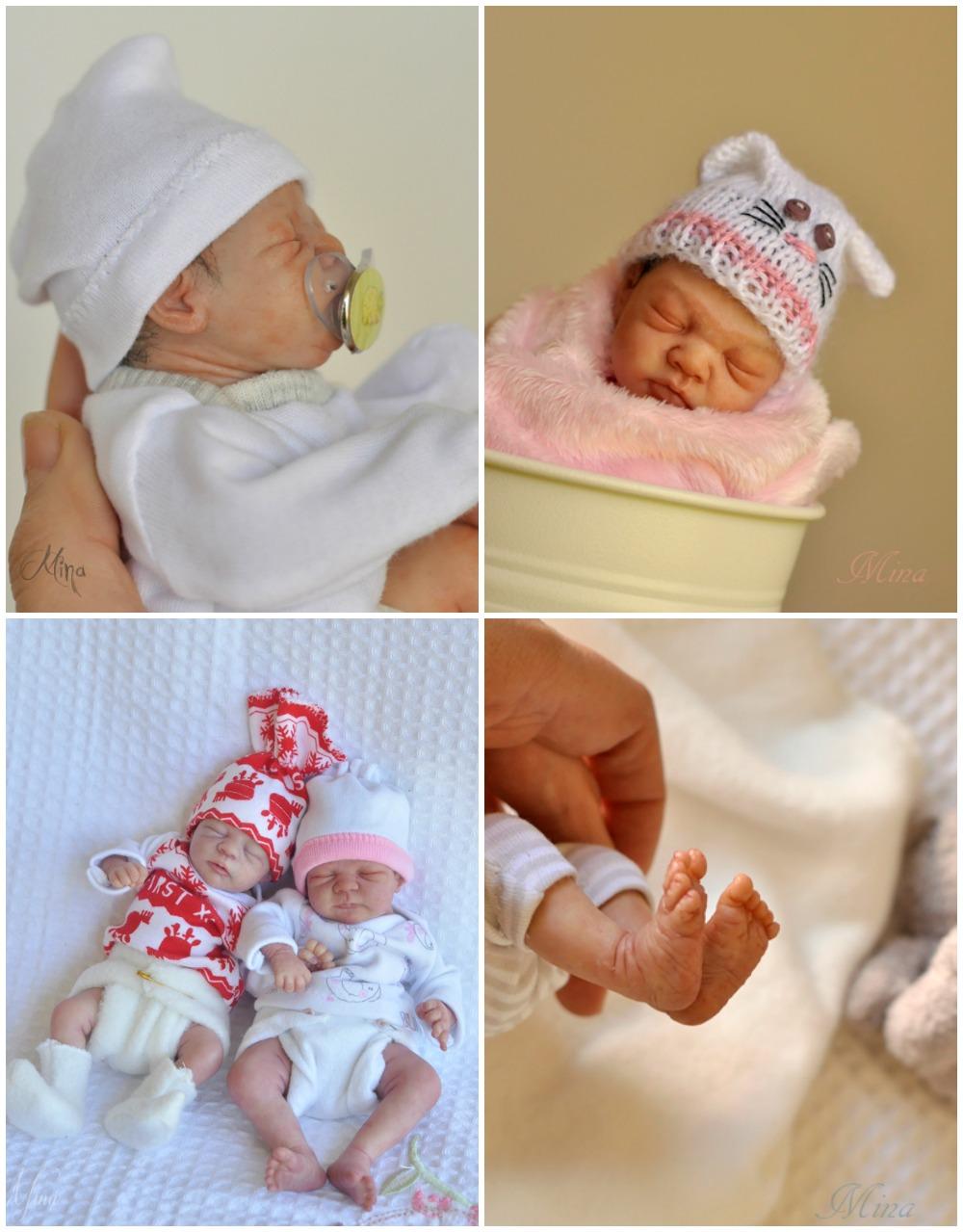 Miniture clay baby sculptures