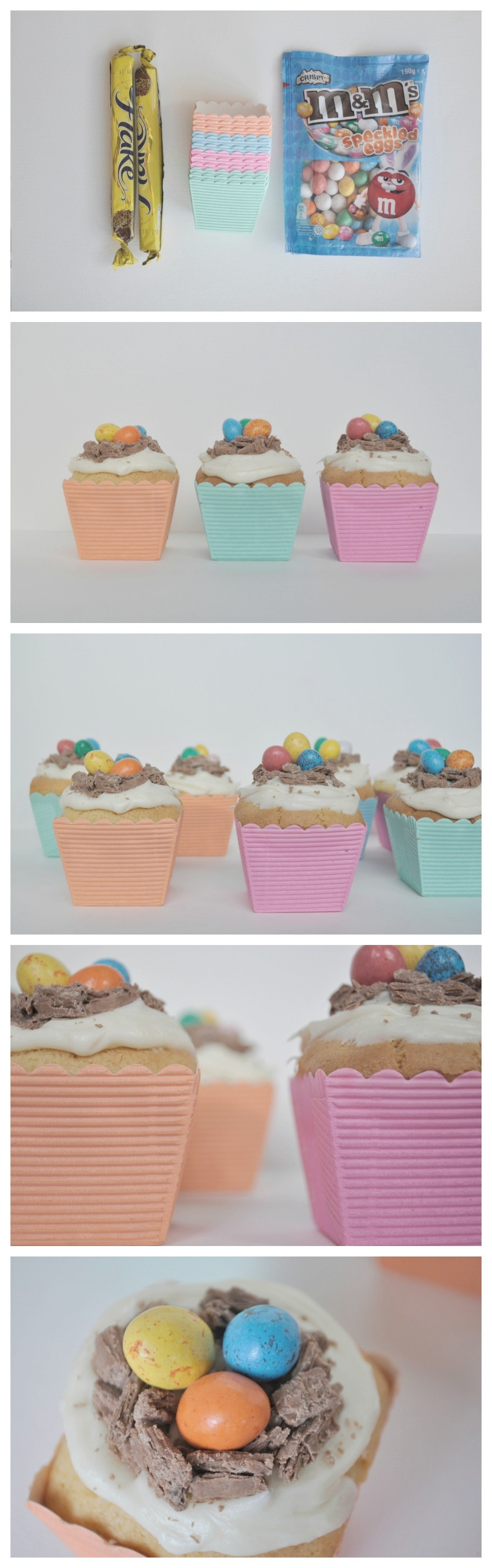Easy nest cupcakes - Fun for Easter, baby shower or birthdays
