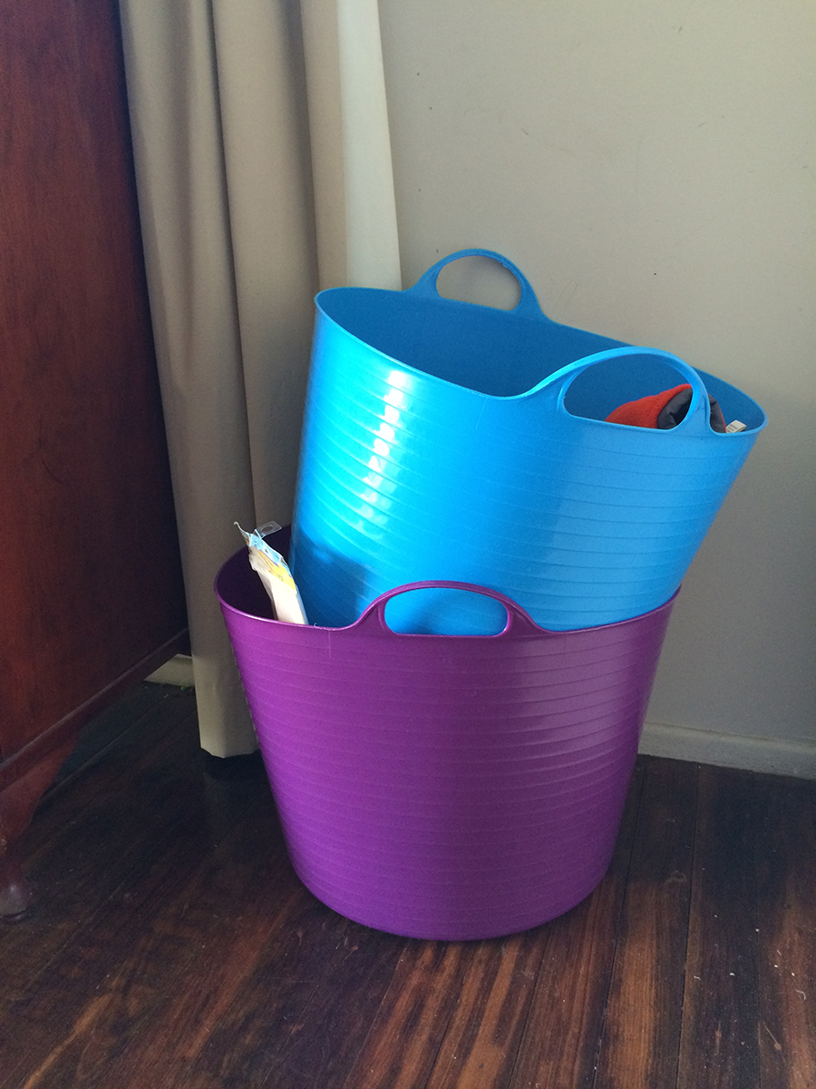 The Bucket Chore System in the kitchen