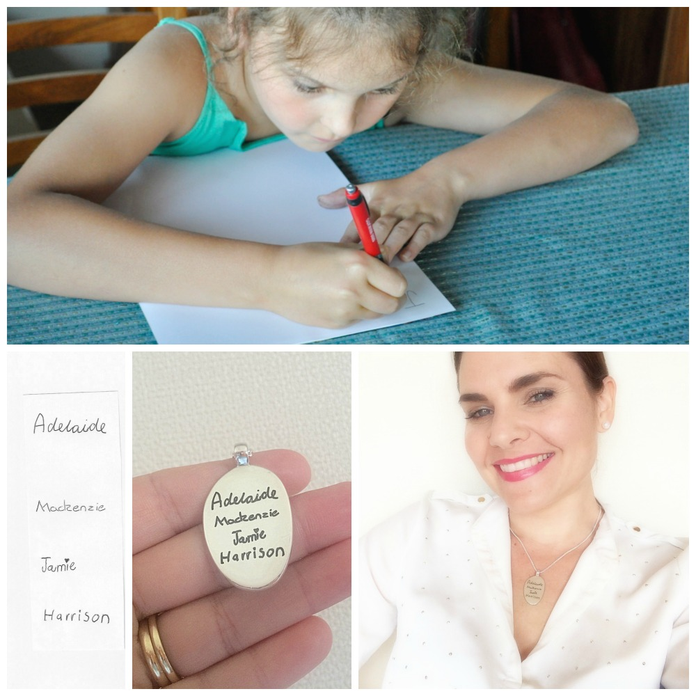 Uberkate Your Script Secret Tablet Necklace