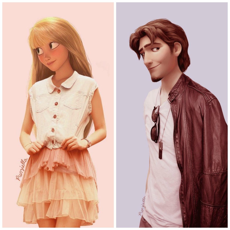 Rapunzel & Flyn Rider