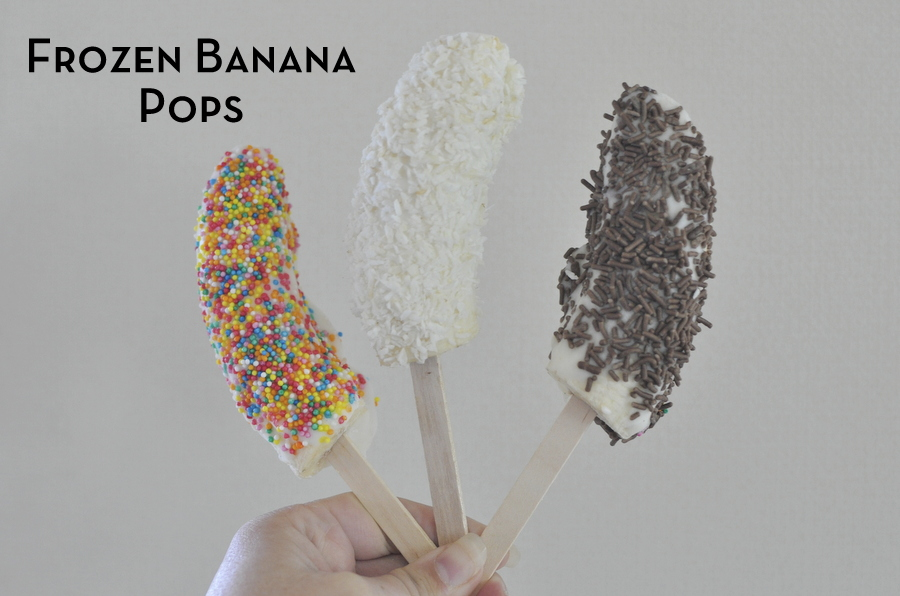 ... frozen yoghurt bites . I also do frozen bananas and these are a