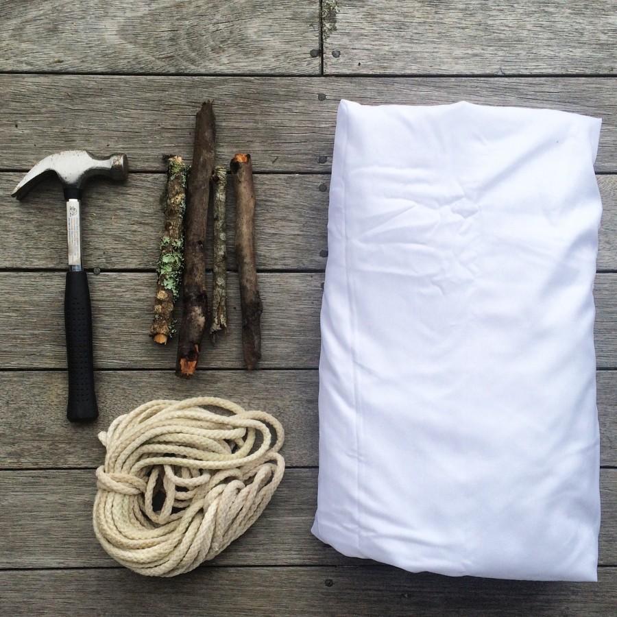 Make a backyard sheet tent