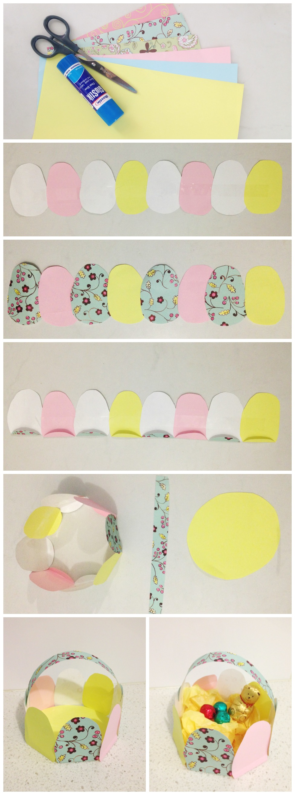 Easter Craft - Paper Easer Egg Basket
