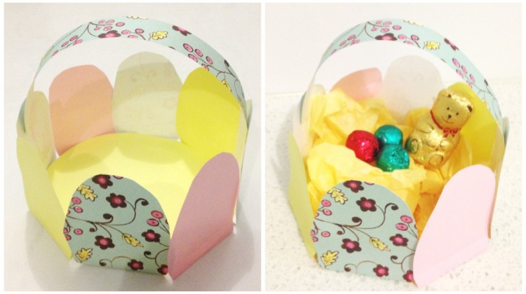 Easter Craft: Paper Easter Egg Basket