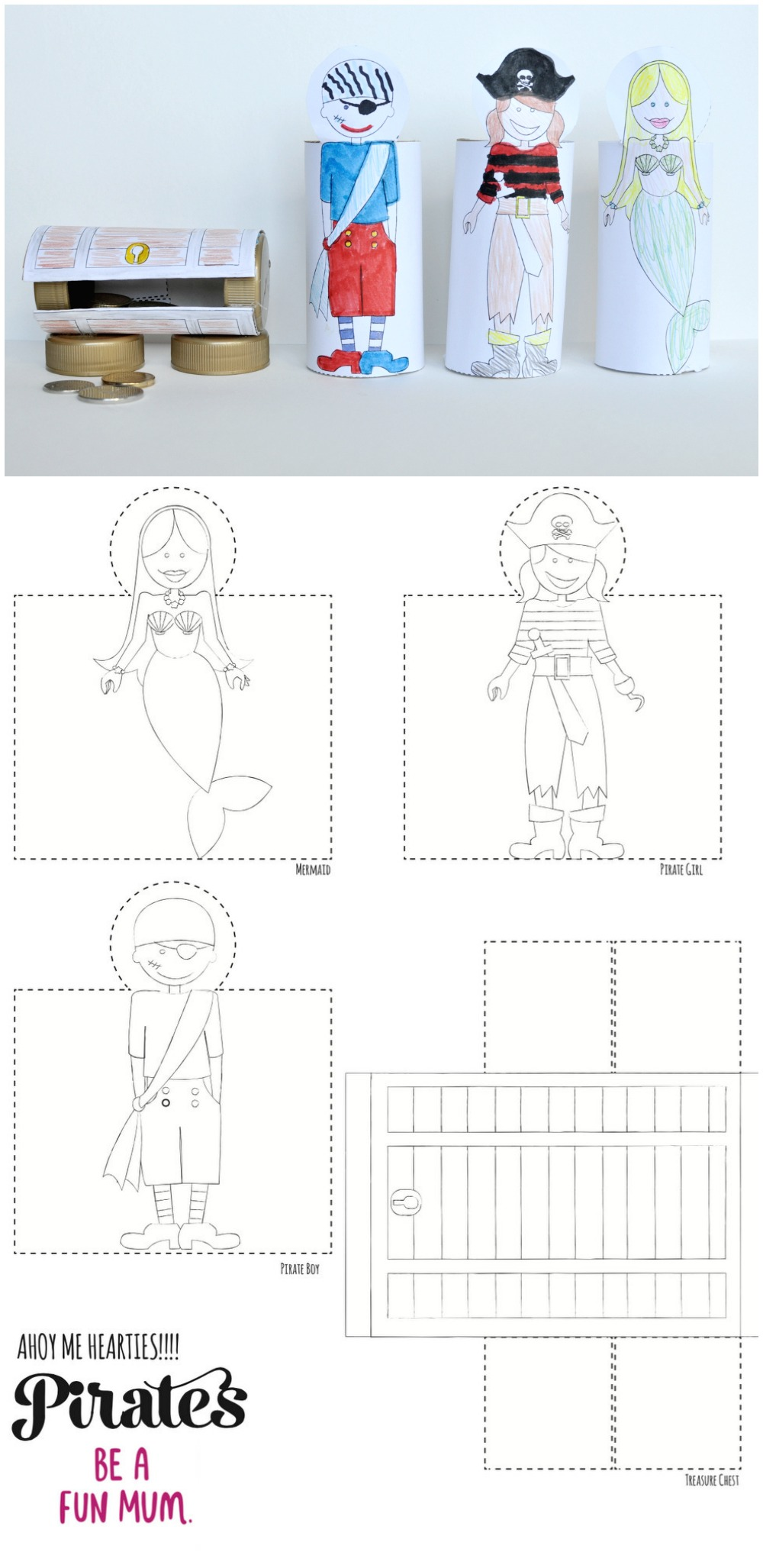 Toilet Roll Pirate Set Printable