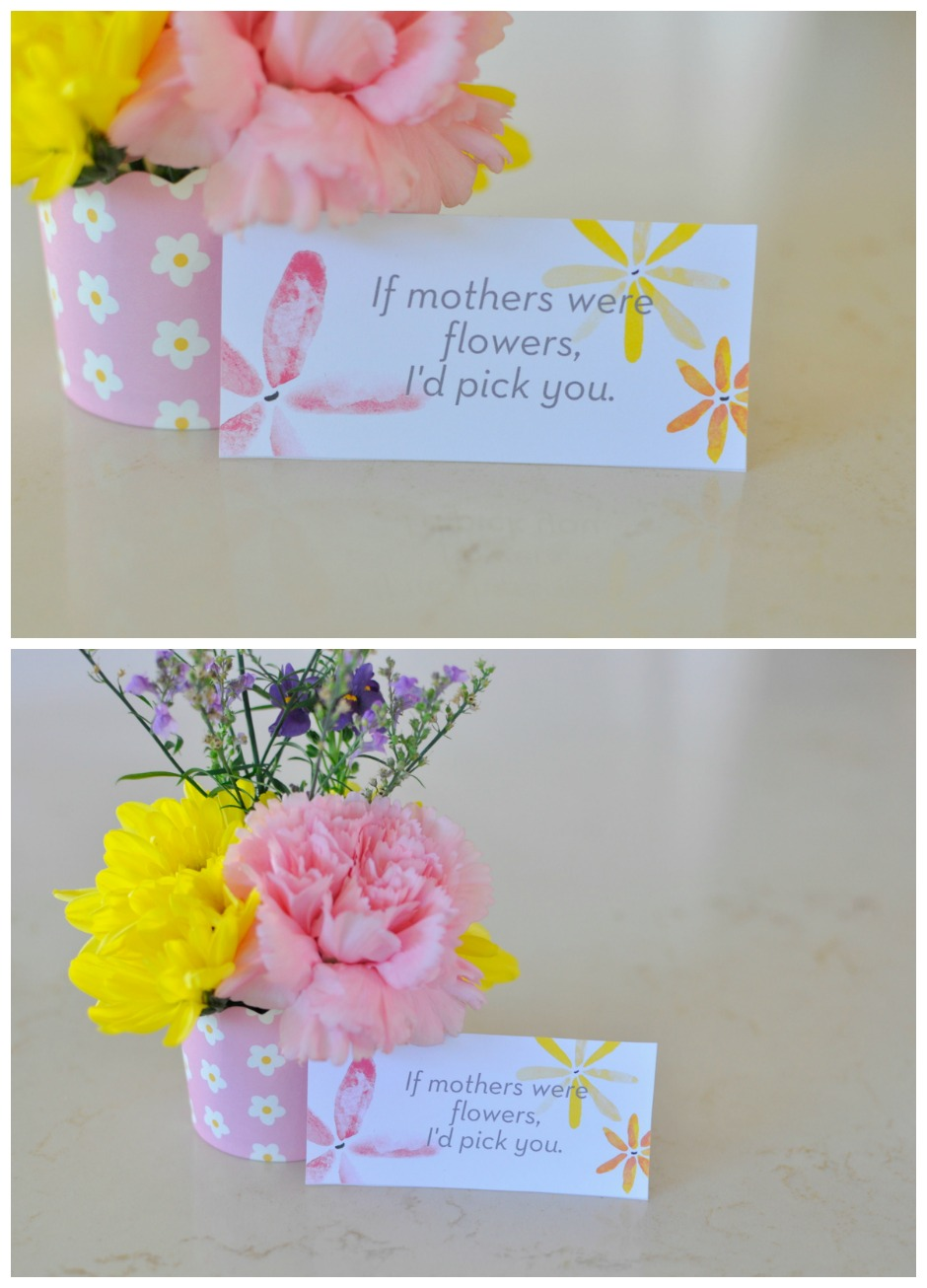 If mothers were flowers, I'd pick you printable card
