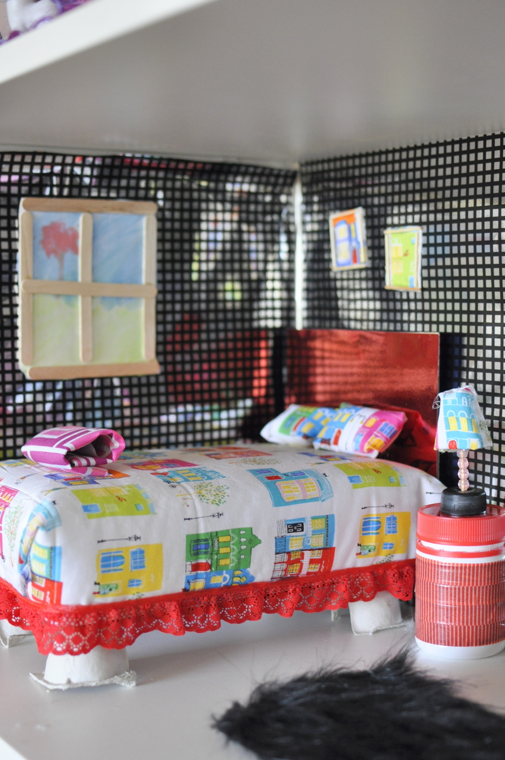 Barbie dollhouse made from recycled materials be a fun mum for Easy recycled materials