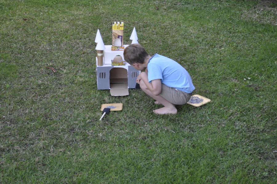 Paint a box castle