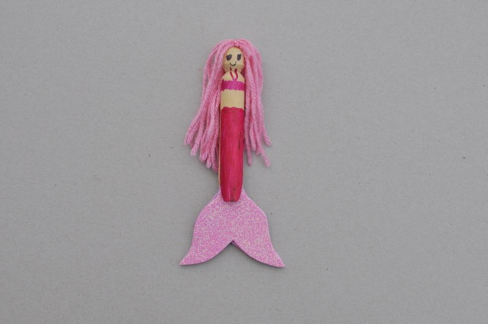 Mermaid peg doll