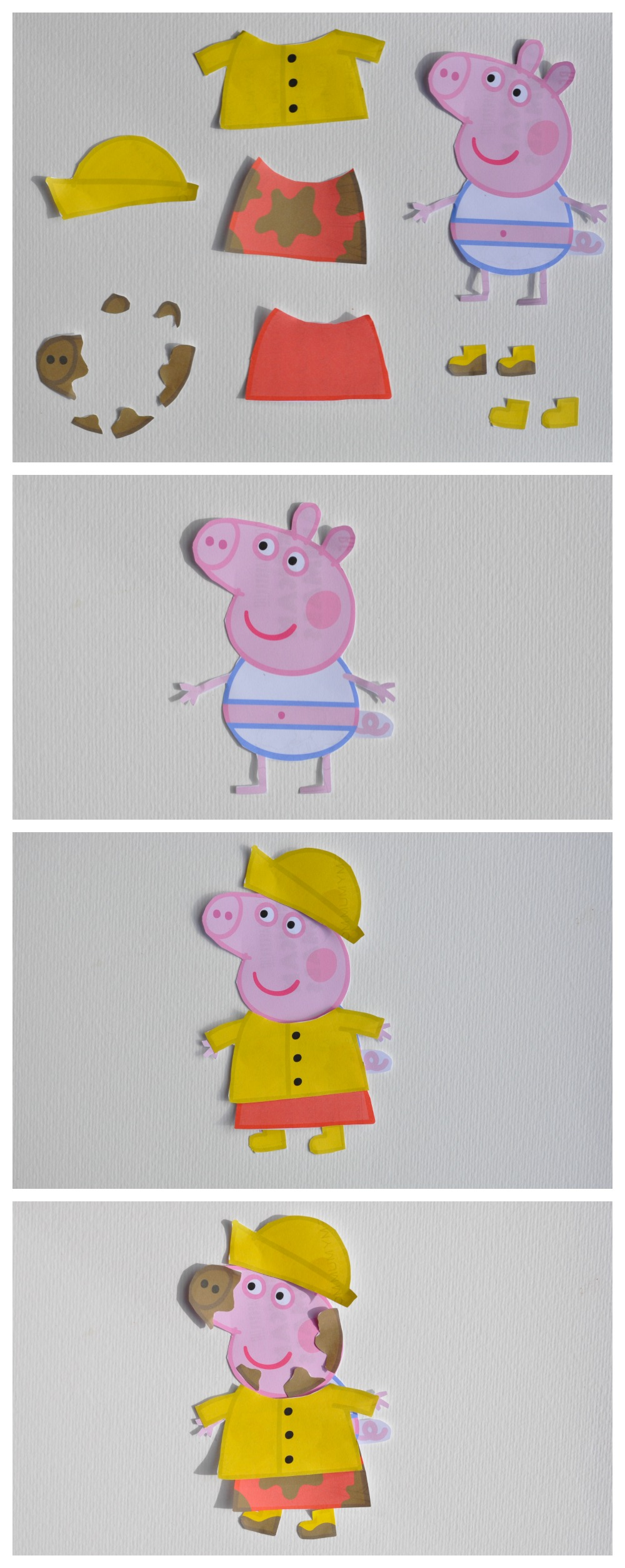 Tip: It's easier to cut a Peppa out in a square rather than the ...
