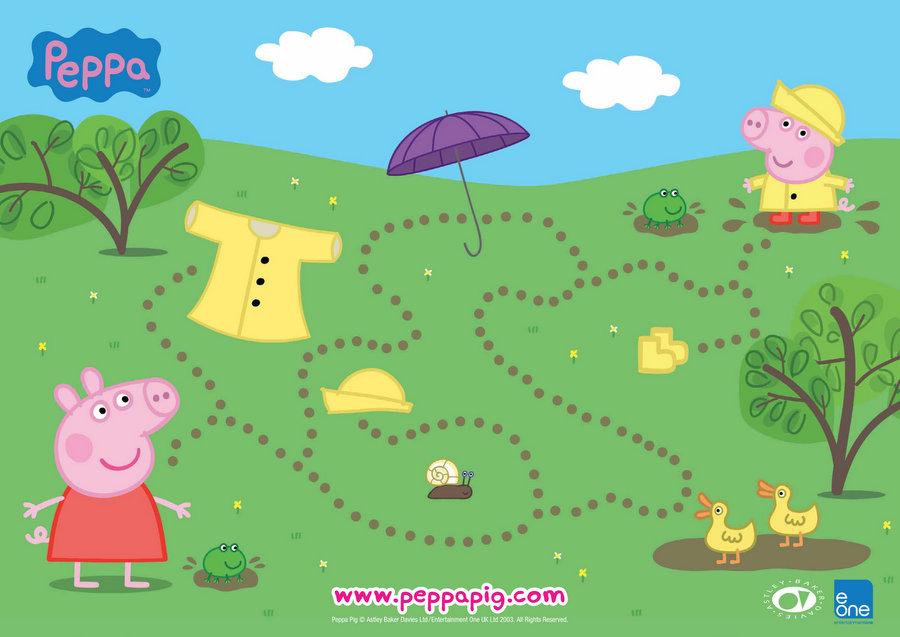 Peppa Muddy Puddles Maze
