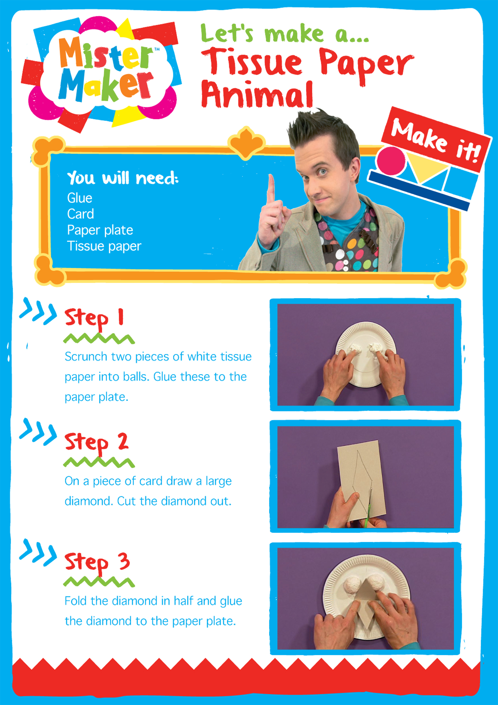Mister Maker Craft - Tissue Paper Animal