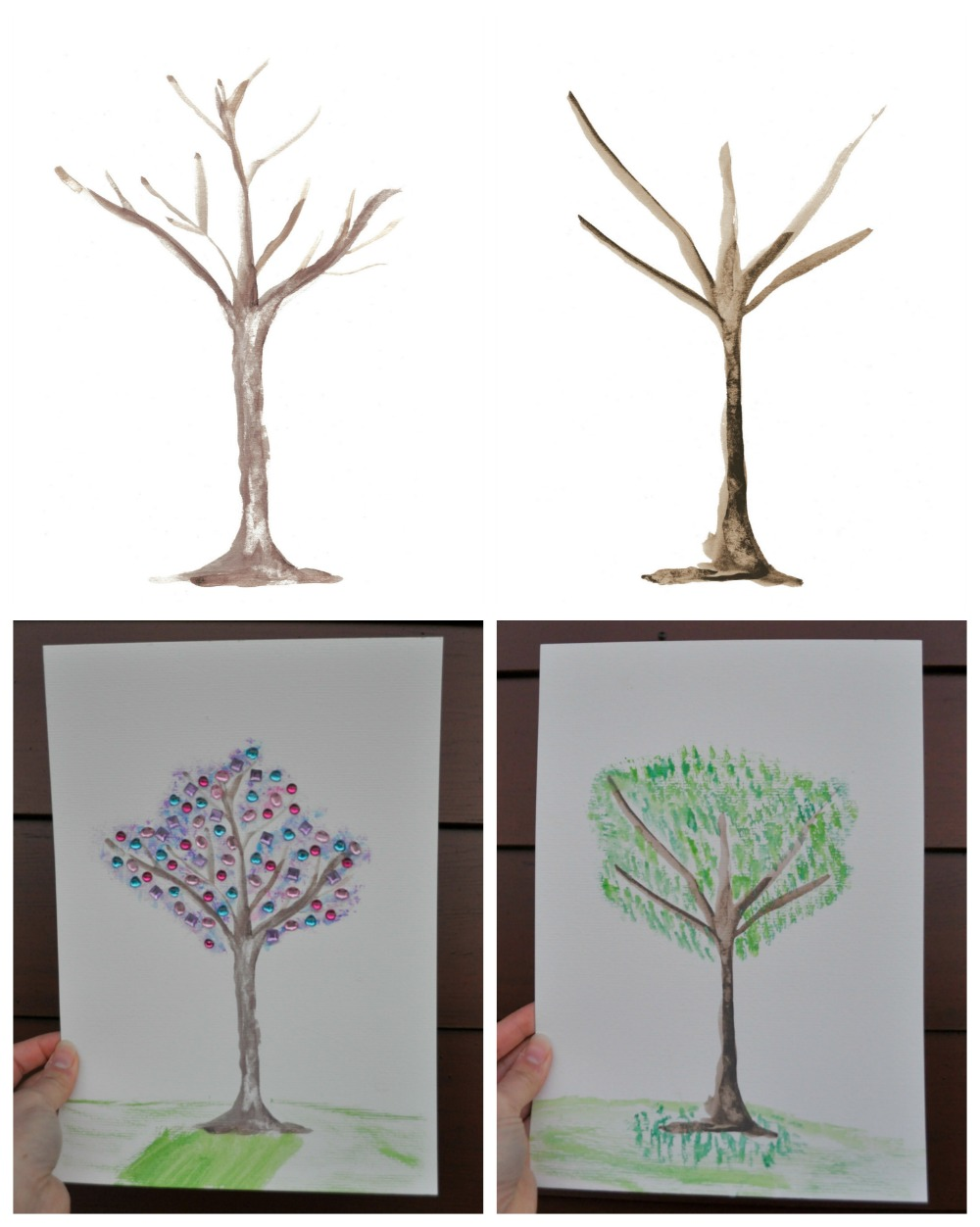 Tree Trunk Template - Great fun for painting projects or as a play dough mat