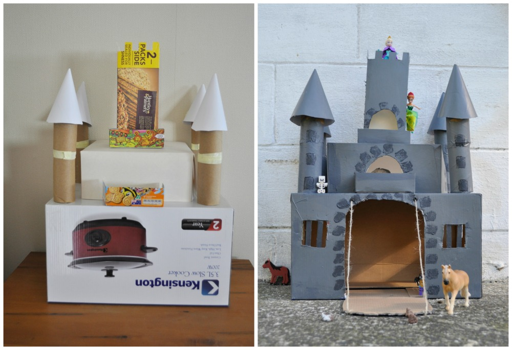 How to make a castle out of boxes