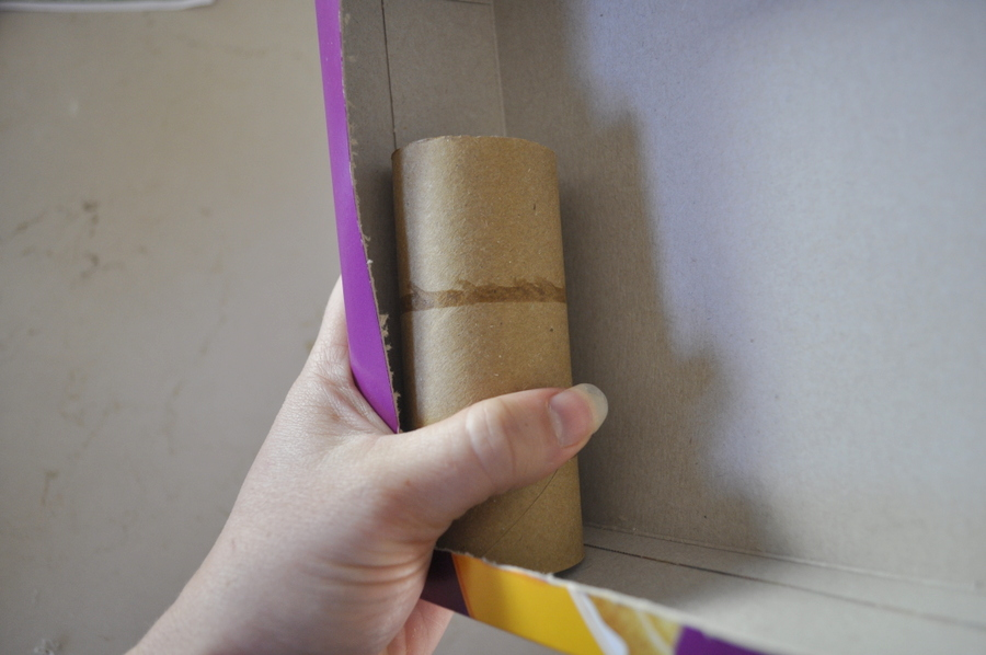 Cereal box craft - make a race ramp