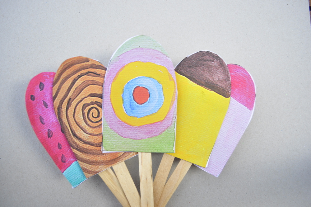 Paper Popsicles  ice cream- printable
