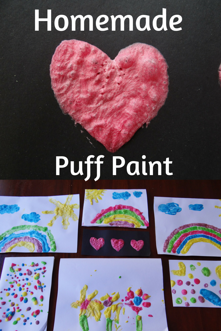 Homemade Puff Paint
